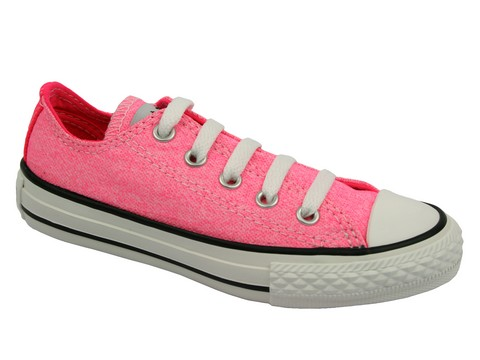 converse basse rose fluo