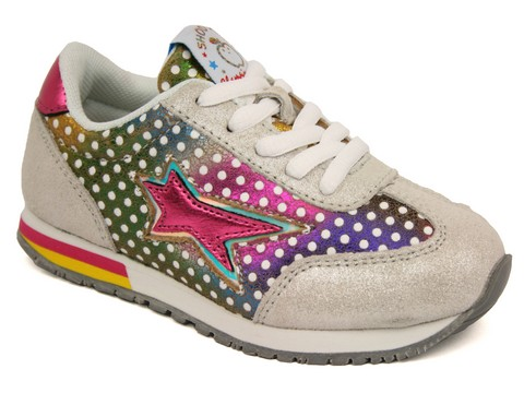 Chaussure SHOOPOM by POM D' API RUNNY LACE STAR:Cuir/MULTICOLORE/./.