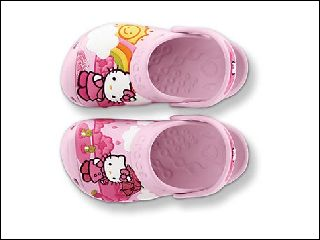 CROCS HELLO KITTY FUN RAIN<br>ROSE