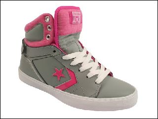 CONVERSE ALL STAR 12 LEATHER MID<br>GRIS