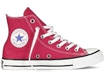 21296 CHUCK TAYLOR ALL STAR HI:Toile/ROUGE/./.