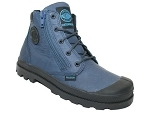 PALLADIUM HI CUFF WATERPROOF<br>BLEU
