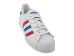 RONA SUPERSTAR:CUIR/BLANC/ROUGE/.