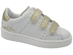 COCOON VELCRO 1081:CUIR/BLANC/OR/.