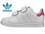 9090 STAN SMITH:CUIR/BLANC/ROSE/.