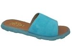 COCOON SIAM MULE:CUIR/TURQUOISE/./.