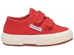 SUPERGA 2750 J VELCRO ROUGE