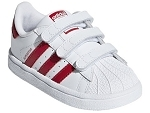 SUPERSTAR SUPERSTAR:CUIR/BLANC/ROUGE/.