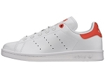 SMILEY STAN SMITH:CUIR/BLANC/ROUGE/.