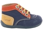 1598 LACET BONBON:NUBUCK/MARINE/ORANGE/.