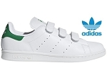 HINDI STAN SMITH:CUIR/BLANC/VERT/.