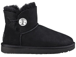 UGG MINI BAILEY BUTTON BLING NOIR