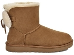 UGG CLASSIC DOUBLE BOW MINI CAMEL