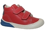 70 PUNKY VELCRO:CUIR/ROUGE/./.