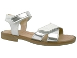 GIRL LOW NYLON 20770:CUIR/BLANC/ARGENT/.