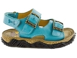 PUNKY VELCRO WHAM:CUIR/TURQUOISE/./.