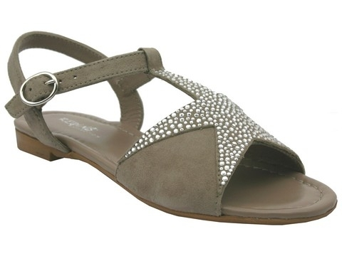 Reqins supreme strass taupe