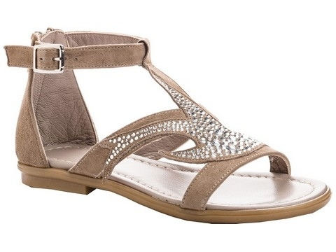 Reqins teva strass taupe